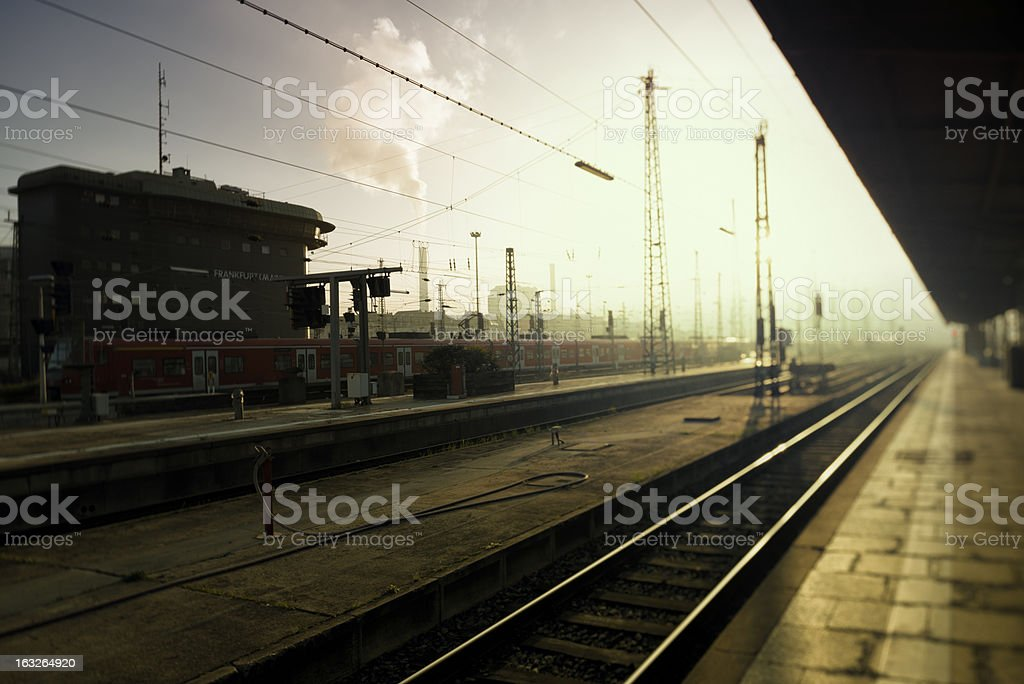 Central Station, Hauptbahnhof, Frankfurt stock photo