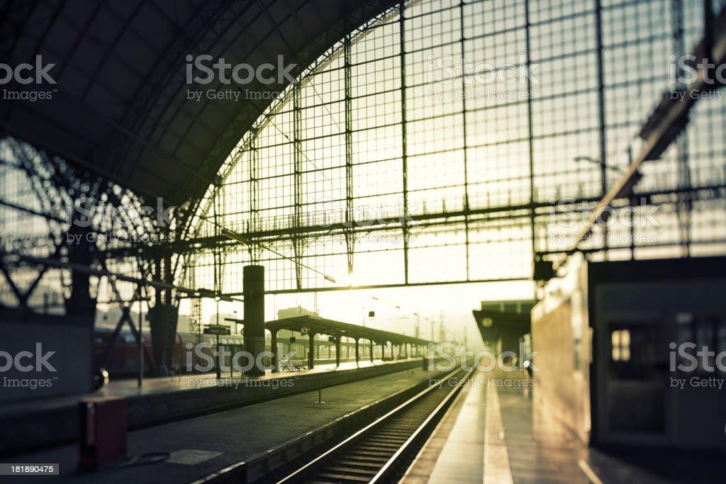 Central Station, Hauptbahnhof, Frankfurt royalty-free stock photo