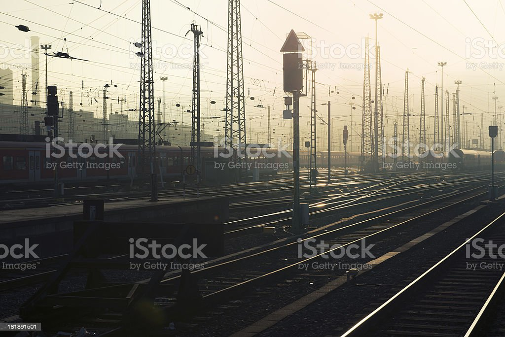 Central Station, Hauptbahnhof, Frankfurt, Rail Yard stock photo