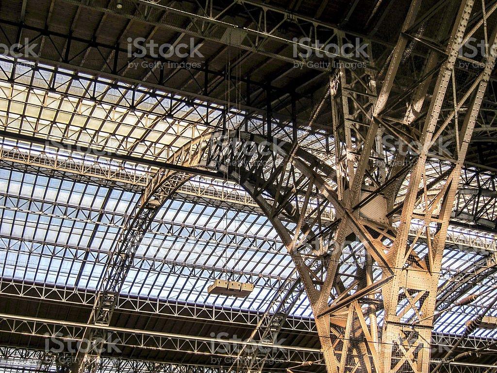 Central Station Hauptbahnhof, Leipzig stock photo