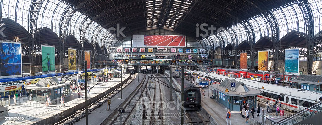 Central Station in Hamburg, Germany stock photo
