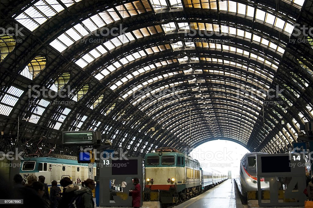 Central station in Milan royalty-free stock photo