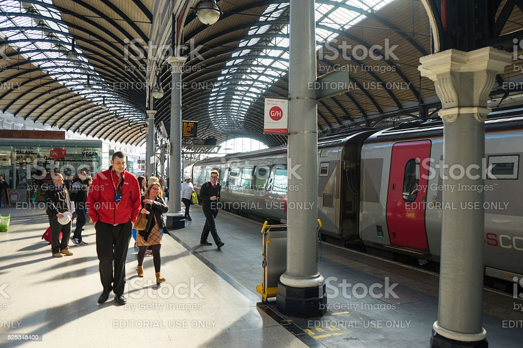 Central Station, Newcastle Upon Tyne stock photo