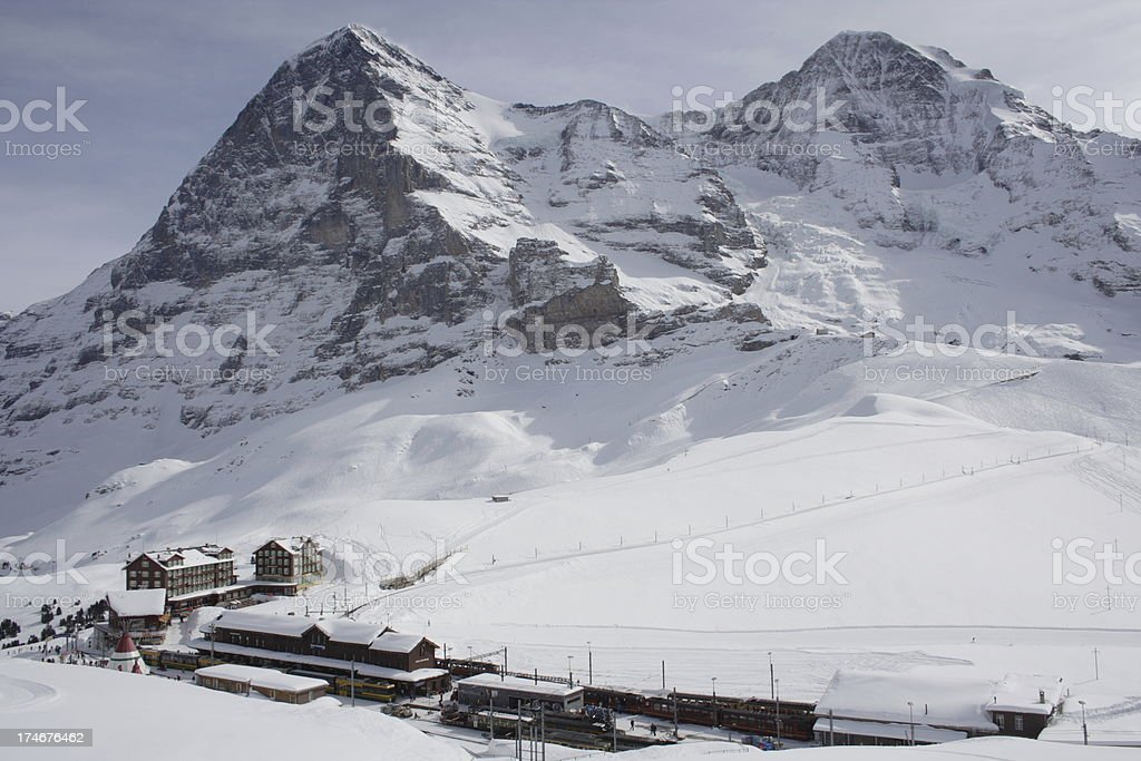 Central Station of the Alps royalty-free stock photo