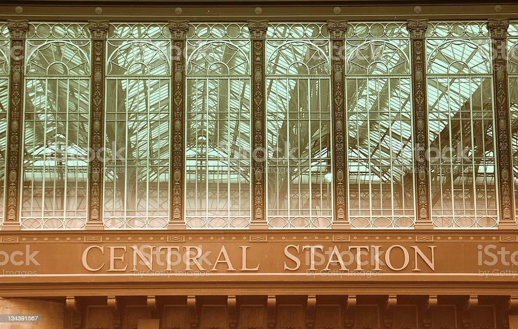 Central station stock photo