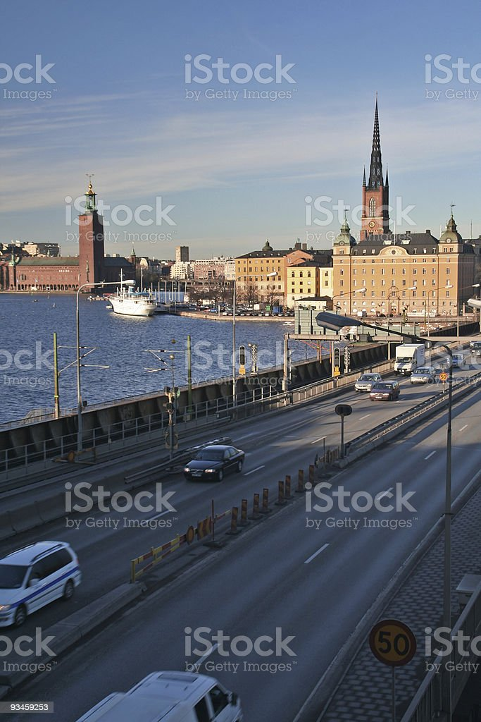 Central Stockholm stock photo