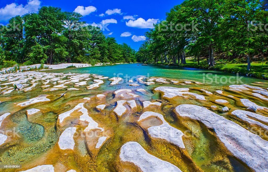 Central Texas hill country River Channels of Paradise stock photo