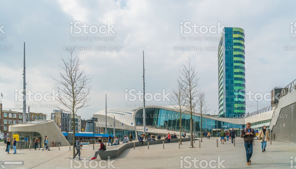 central train station in Arnhem stock photo