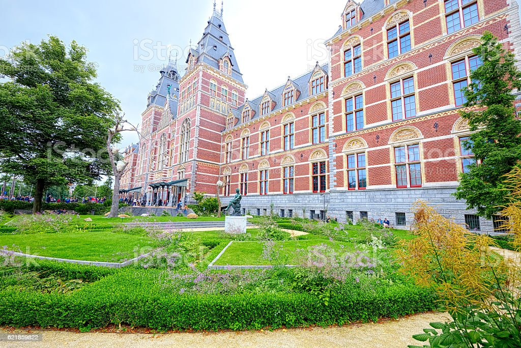 Central train station of Amsterdam (super-wide angle) stock photo