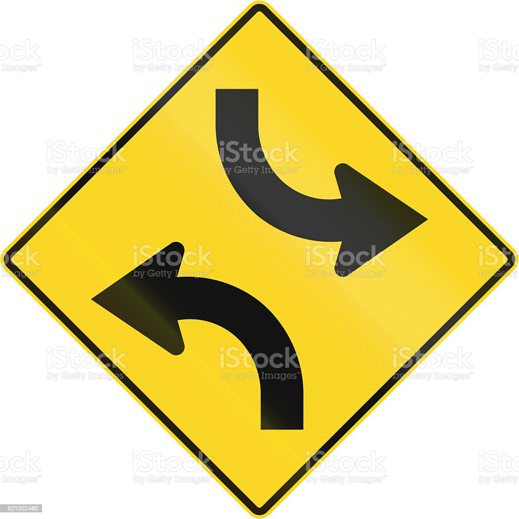 Central Turning Lane in Canada stock photo