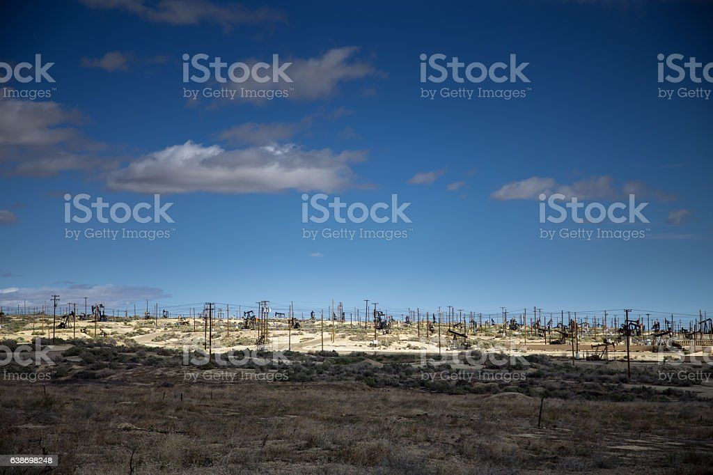 Central Valley Oil Field, California stock photo