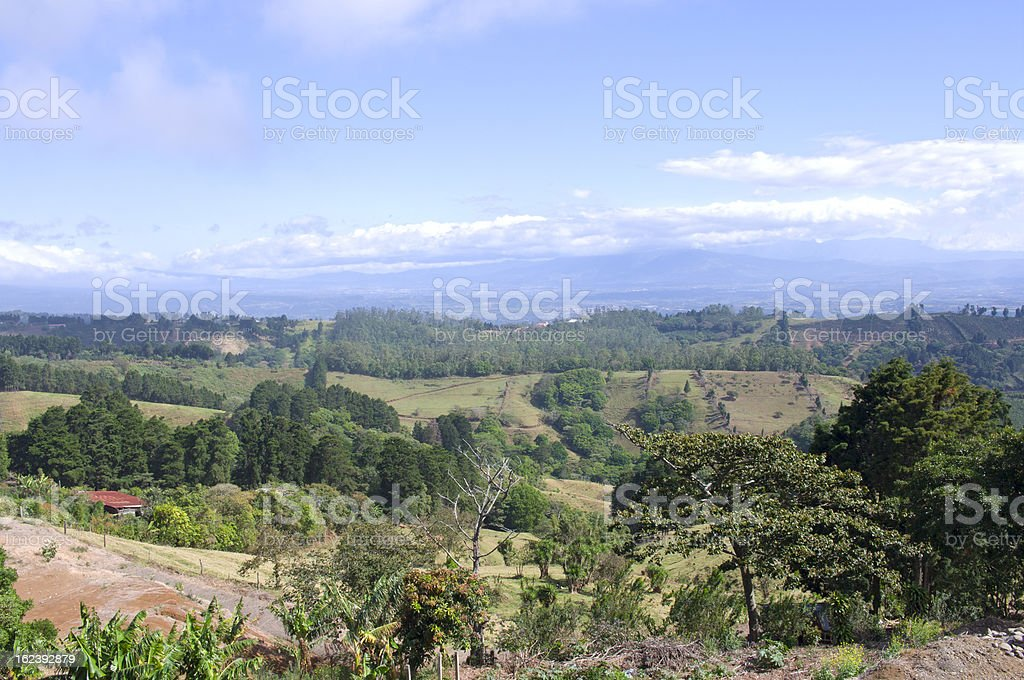 Central Valley Vista in Costa Rica royalty-free stock photo