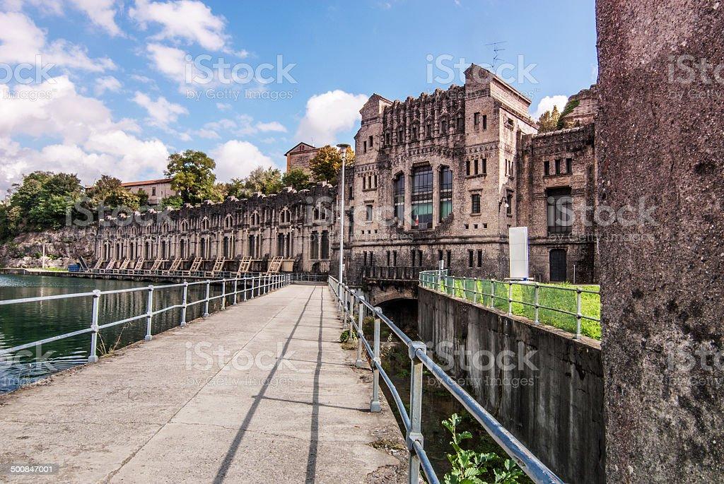 Centrale idroelettrica Alessandro Taccani, Trezzo d'Adda. stock photo