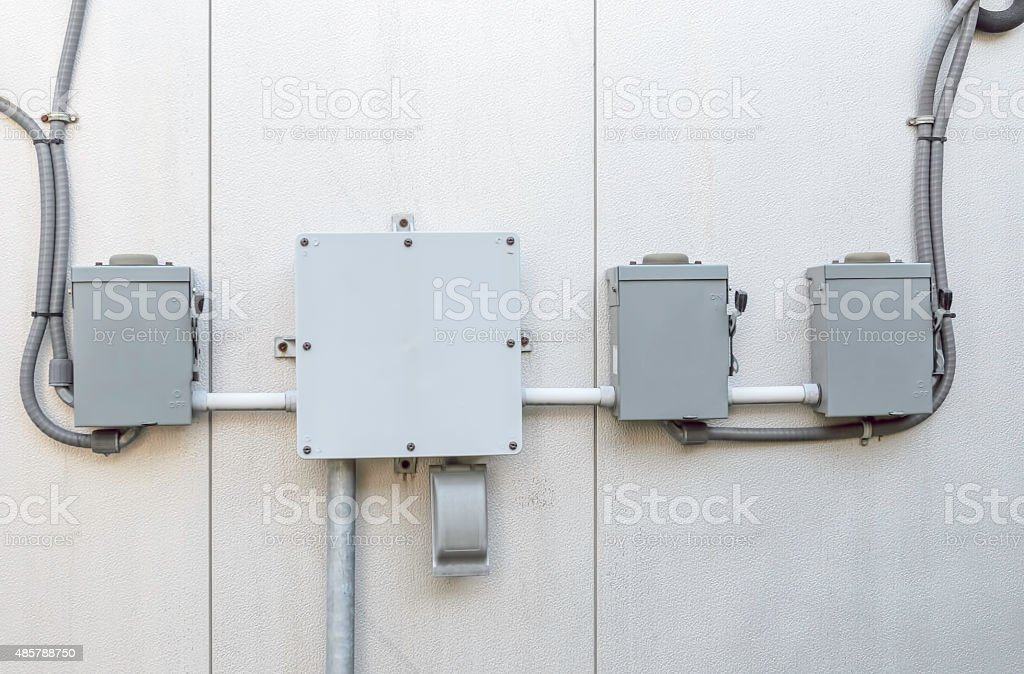 Centralization of electrical power stock photo