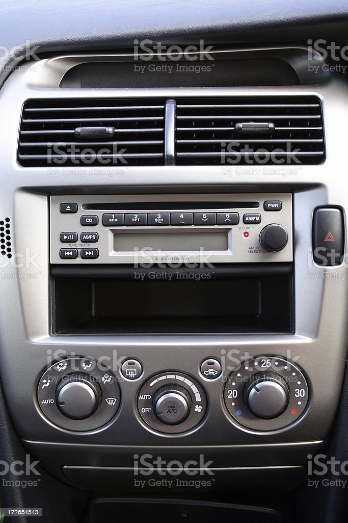 centre console: new vehicle stock photo