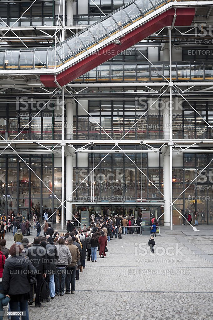 Centre Georges Pompidou, Paris France in Winter royalty-free stock photo