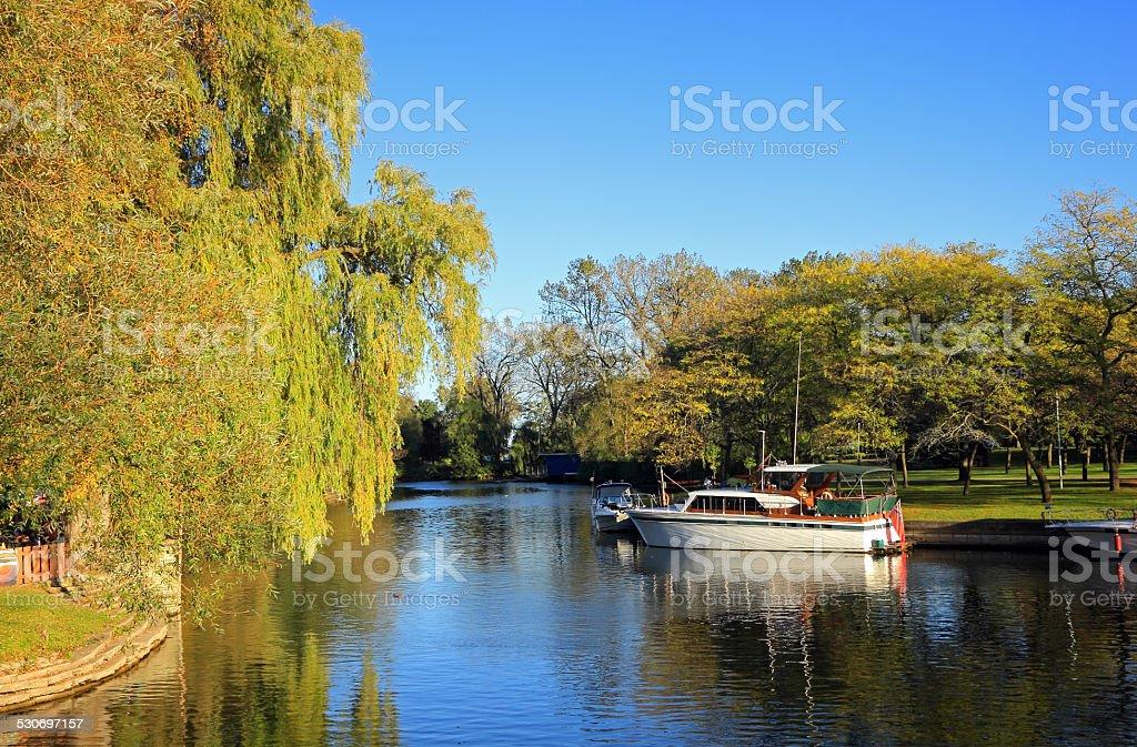 Centre Island Boating stock photo