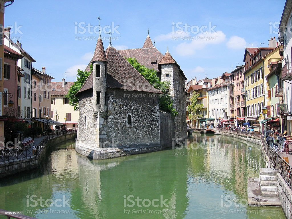 Centre of Annecy, France stock photo