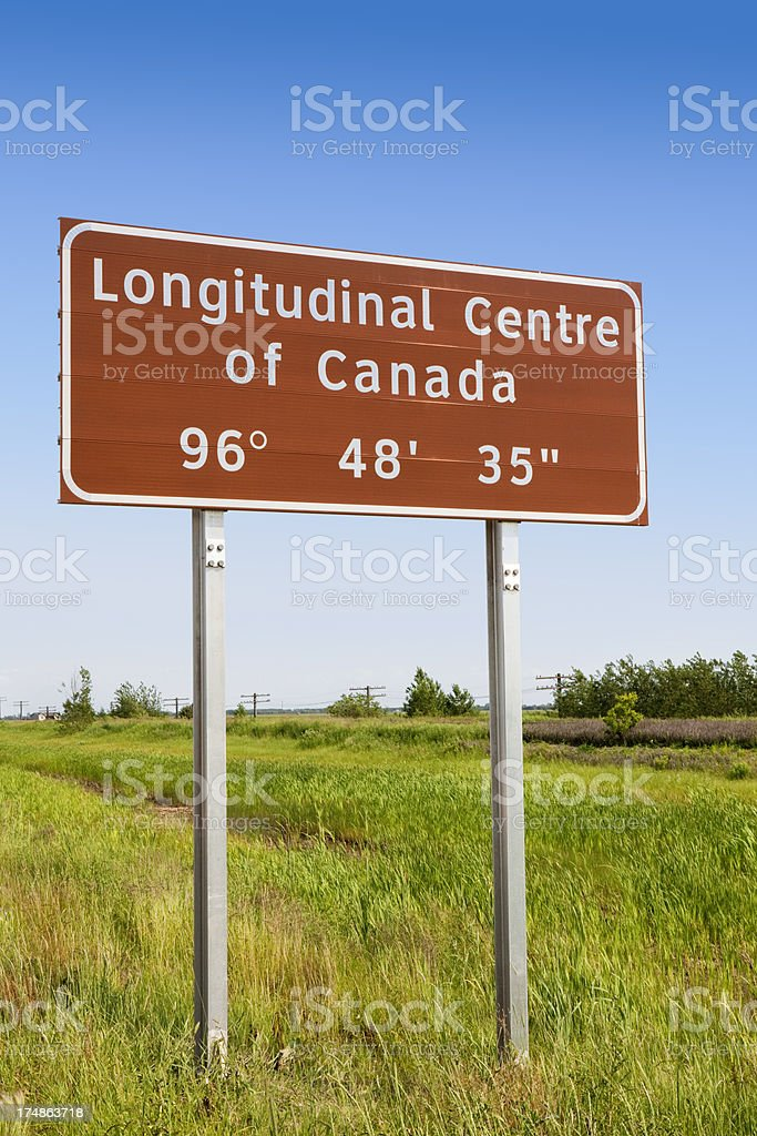Centre of Canada royalty-free stock photo
