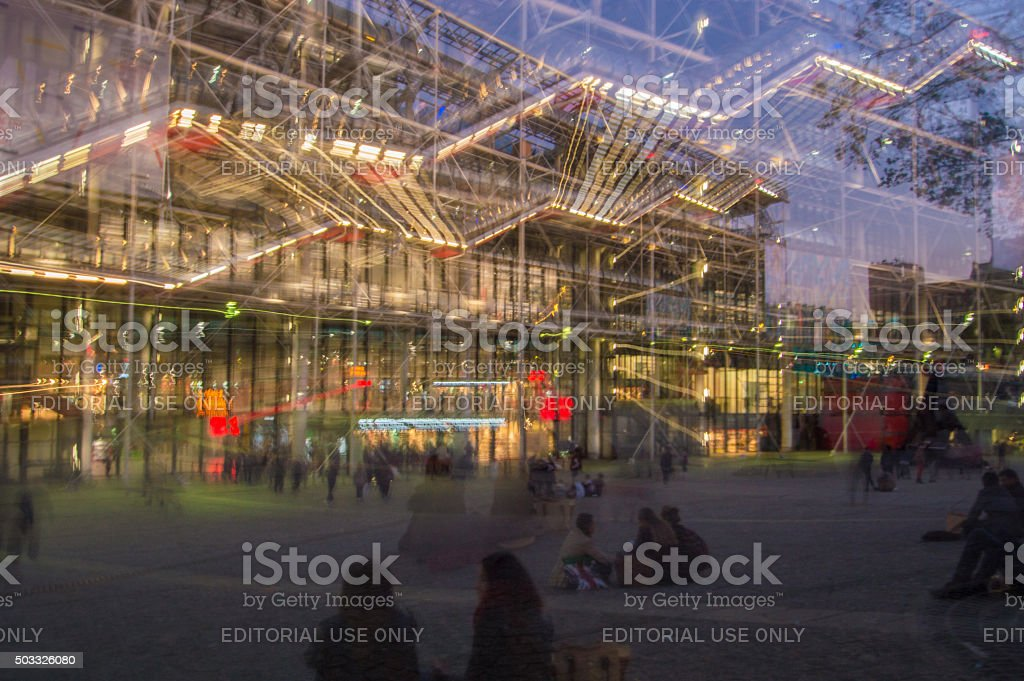 Centre Pompidou (Beauborg), Paris, France stock photo