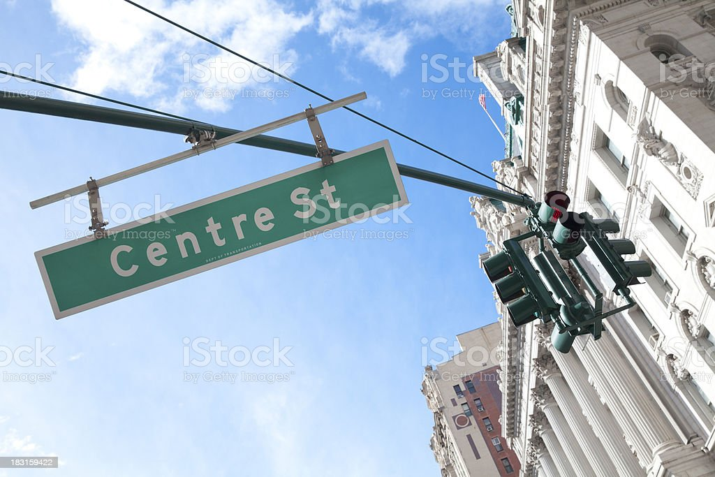 Centre street in New York City royalty-free stock photo