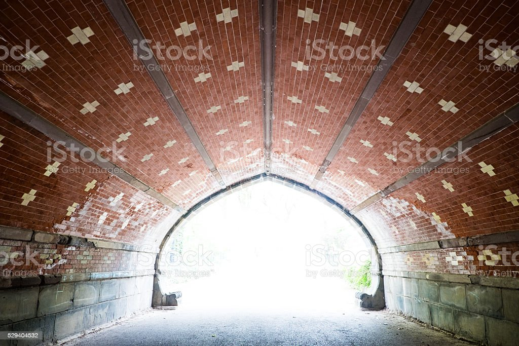 Centrla Park Tunnel stock photo