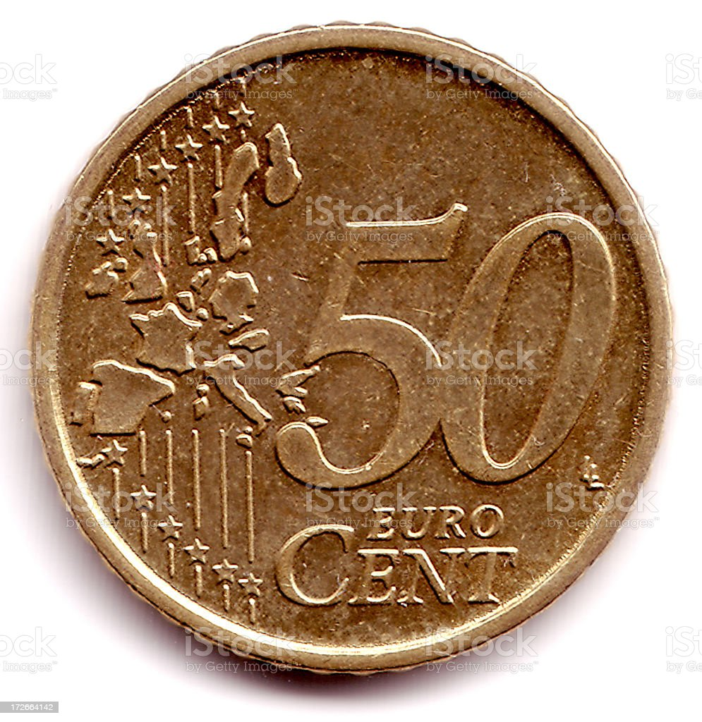 Cents 50 Euro Cent Coin stock photo
