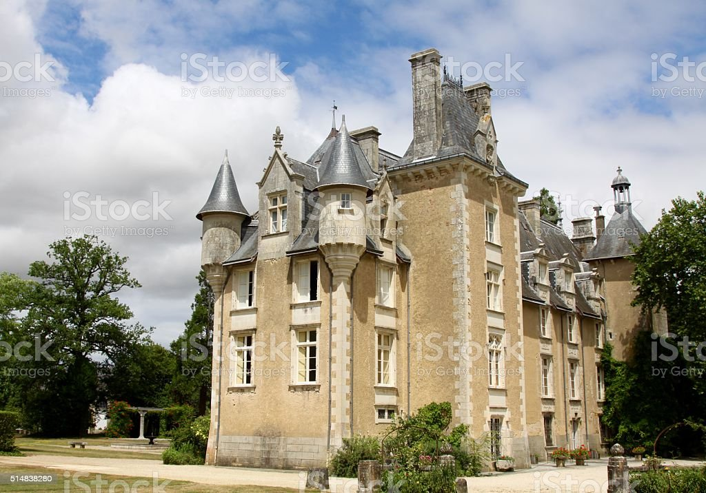 Centuries Old Chateau In Central France stock photo