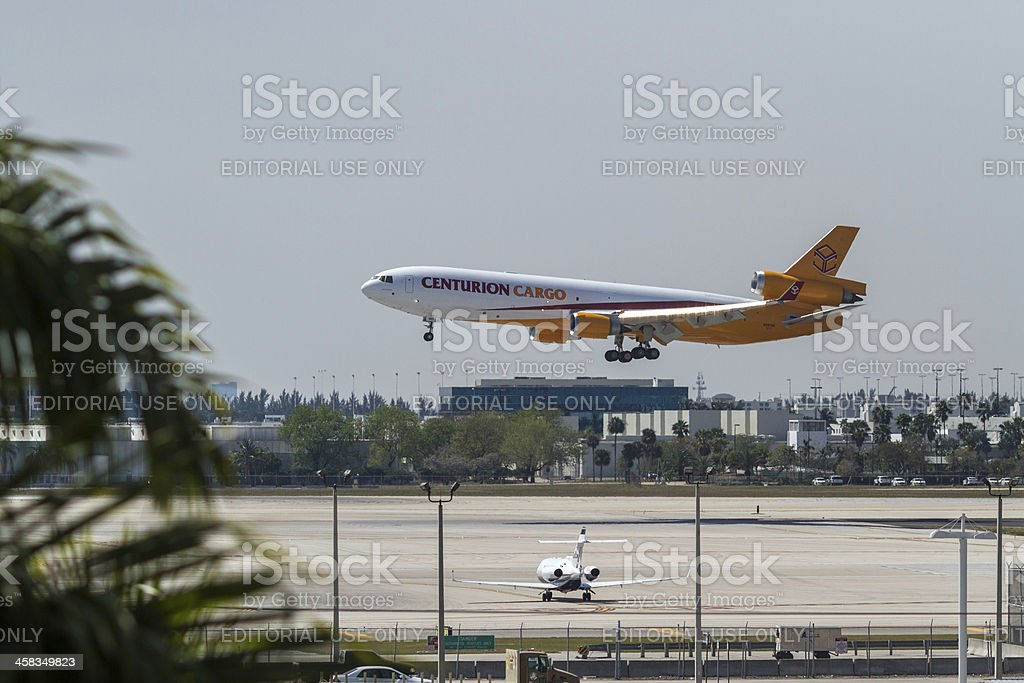 Centurion Air Cargo Airplane royalty-free stock photo