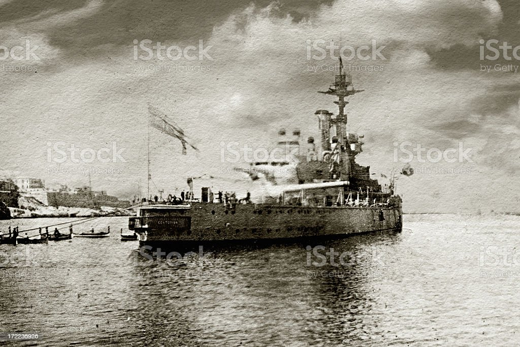 HMS Centurion stock photo