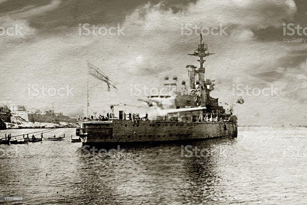 HMS Centurion stock photo