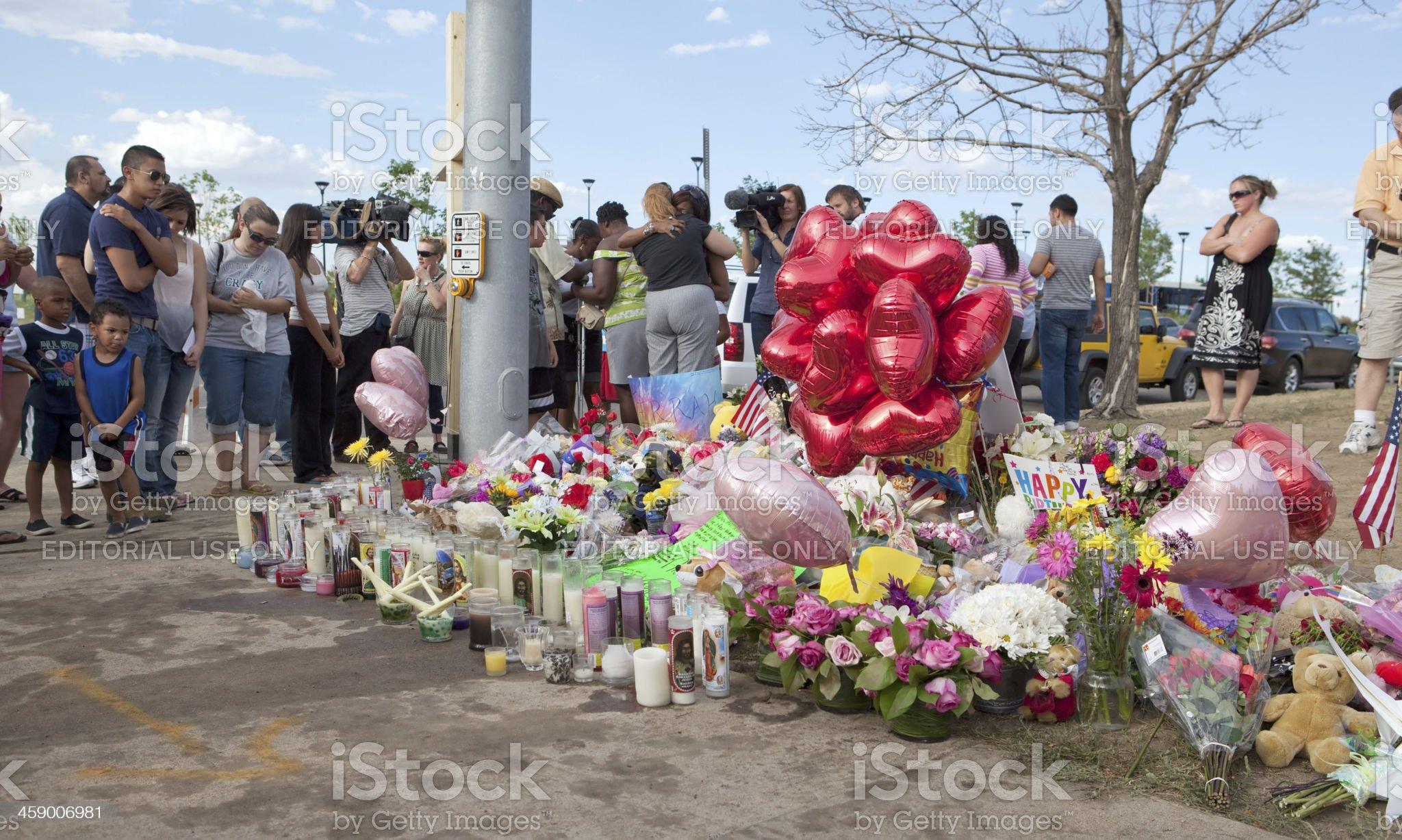 Century 16 Improvised Victim Memorial royalty-free stock photo