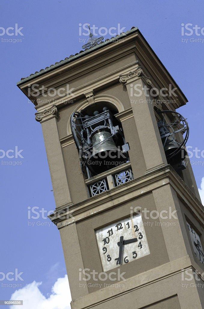 XVI century campanile in Italy stock photo