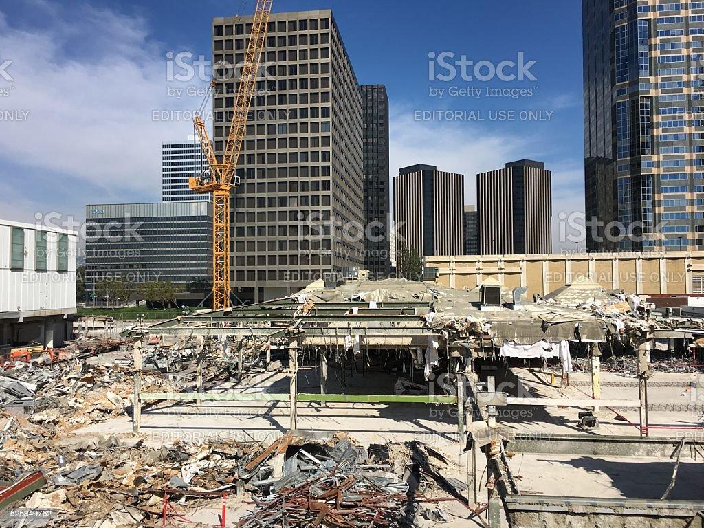 Century City Westfield Shopping Mall Under Construction stock photo