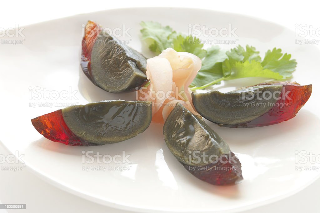 century egg , chinese food royalty-free stock photo