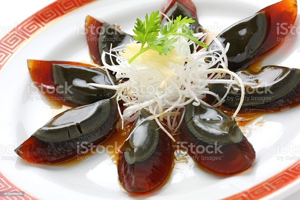 century egg , chinese food stock photo