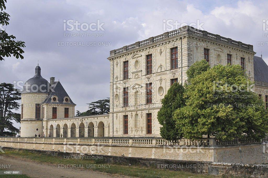 XVII century french castle of Oiron stock photo