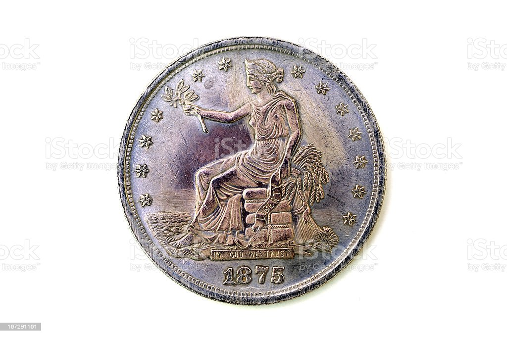 century old american coin stock photo
