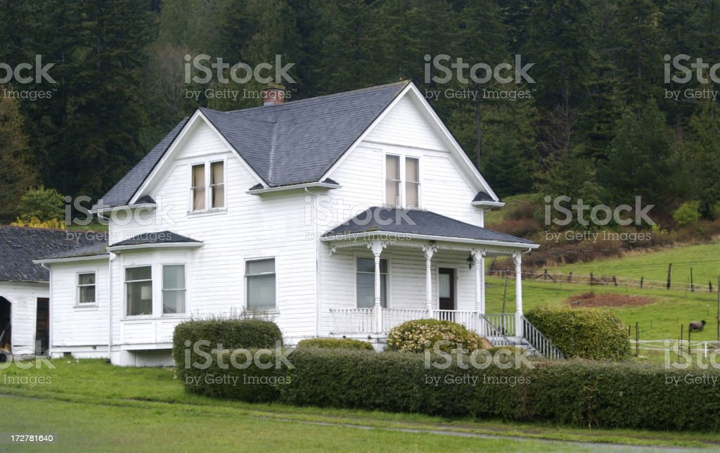 Century Old Farmhouse stock photo