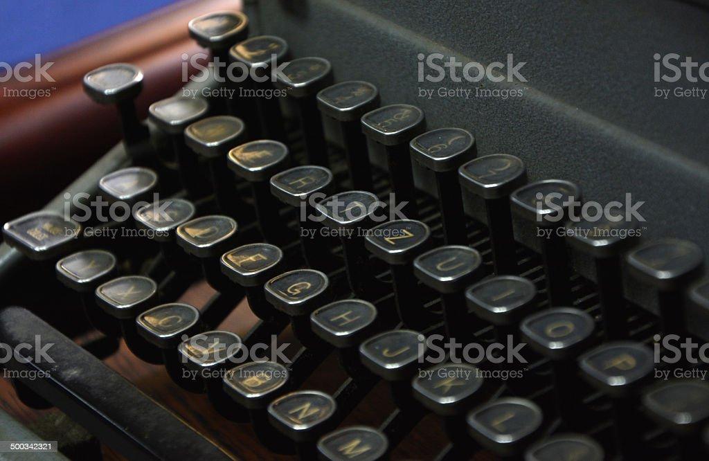 Century Old Typewriter royalty-free stock photo