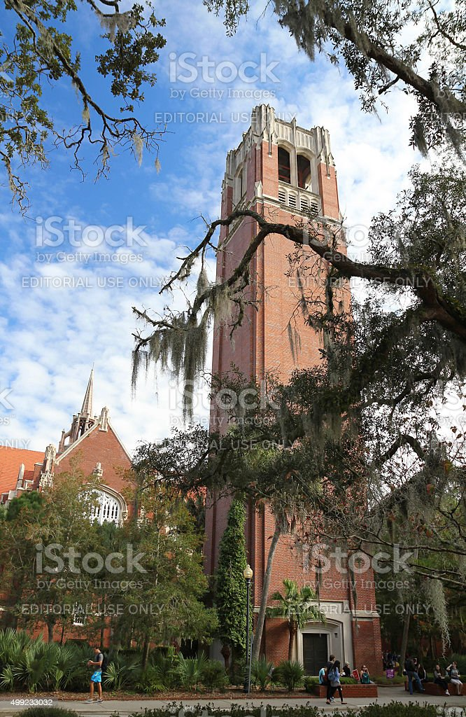 Century Tower at the University of Florida, Gainesville, FL USA stock photo
