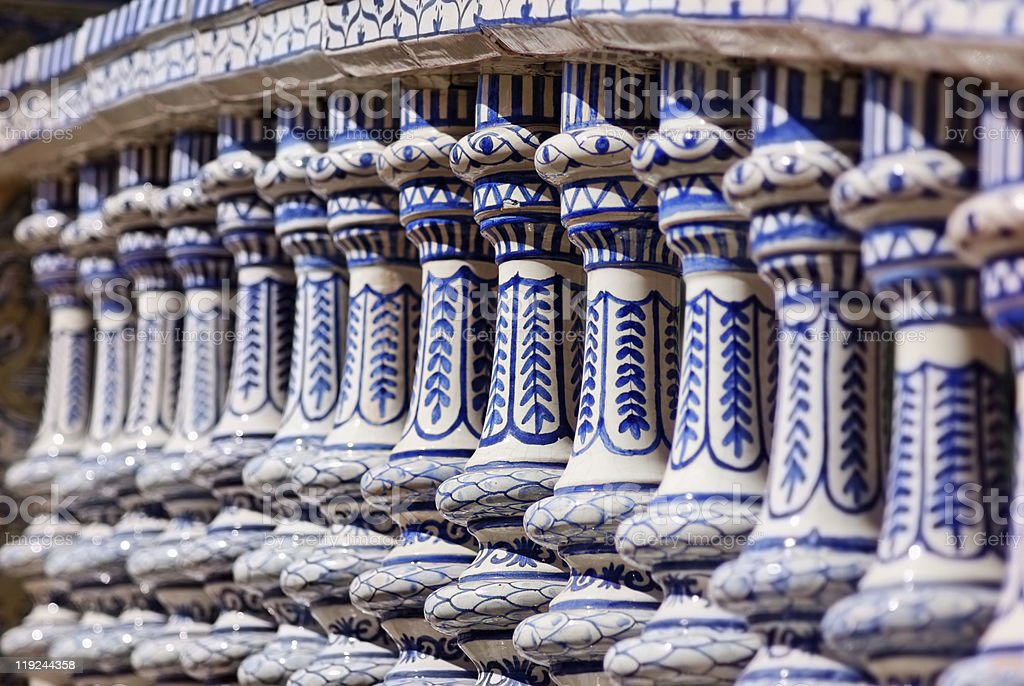 Ceramic Balustrade royalty-free stock photo