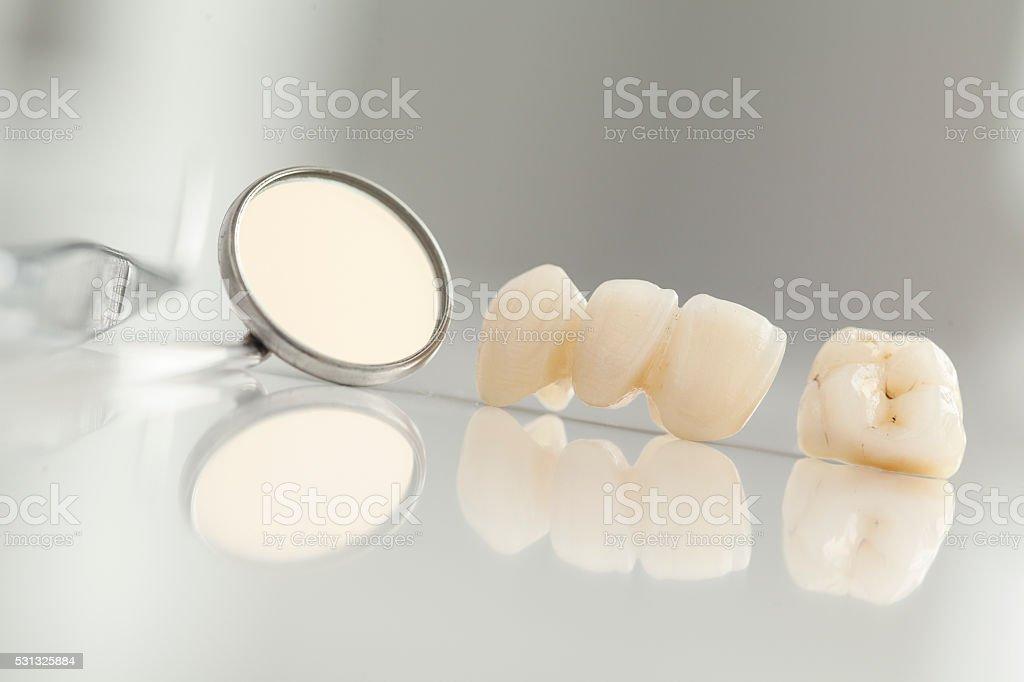 Ceramic bridge close up view stock photo