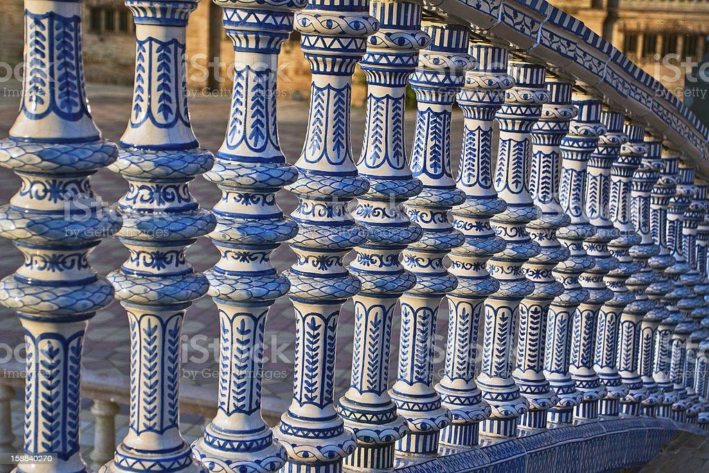 Ceramic Bridge on the Plaza de Espana in Seville, Spain. royalty-free stock photo