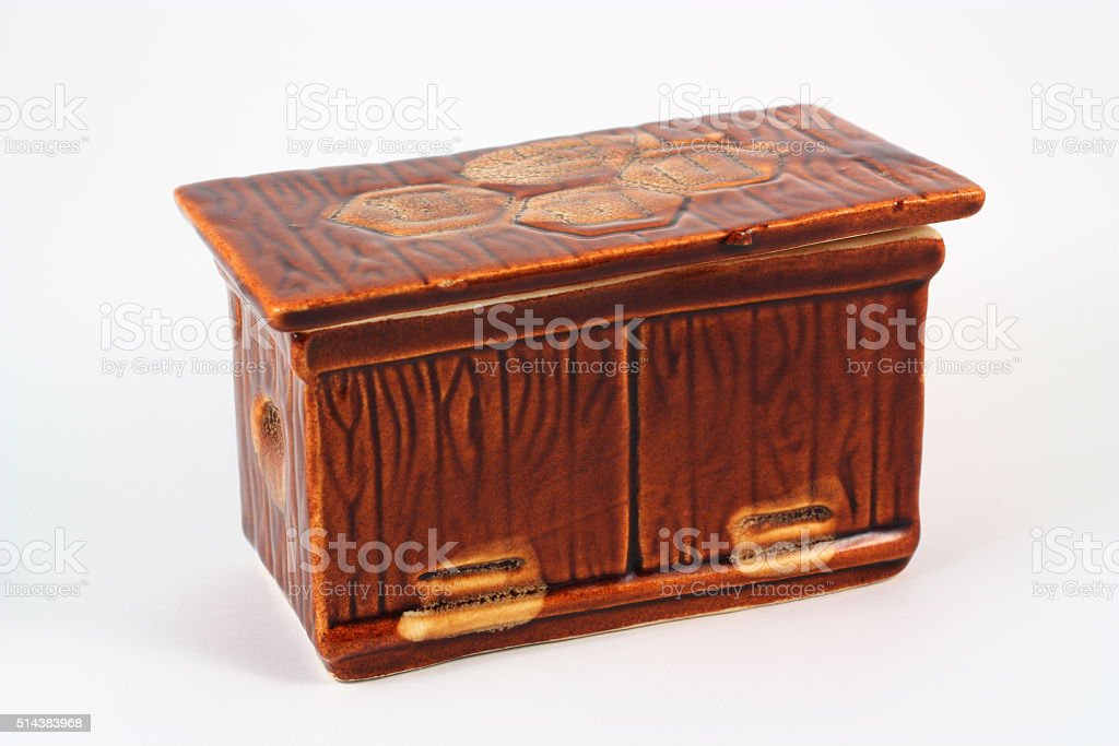 Ceramic casket royalty-free stock photo