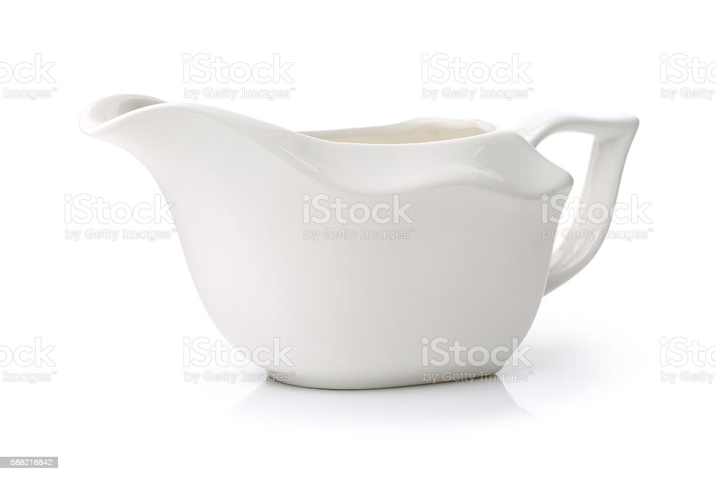Ceramic cream jug stock photo