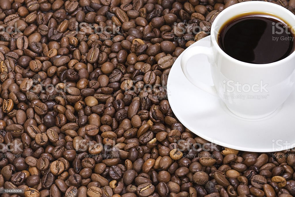 ceramic cup wit coffee stock photo