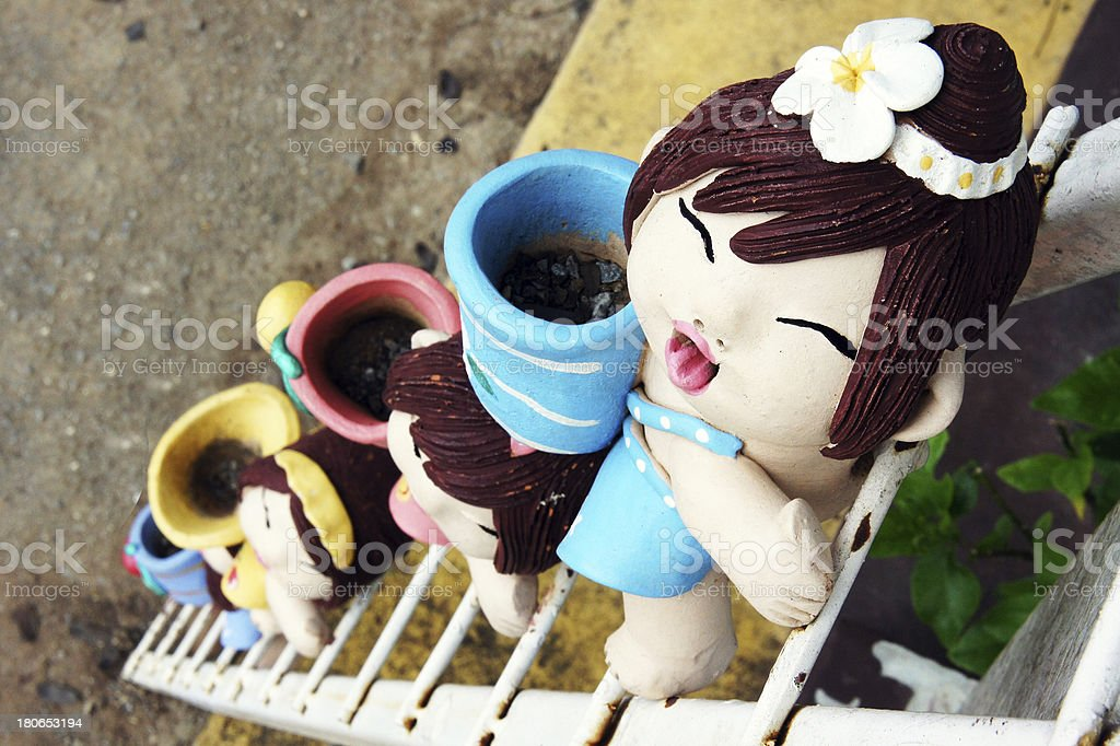 Ceramic dolls royalty-free stock photo