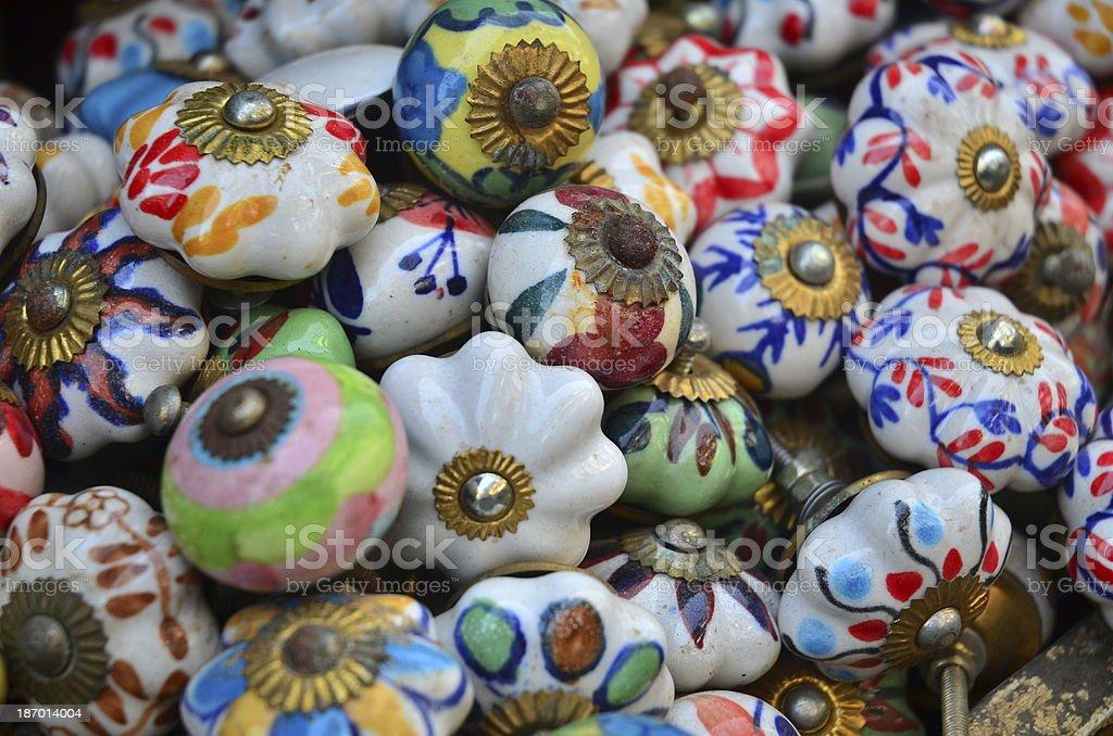 Ceramic Drawer Knobs stock photo