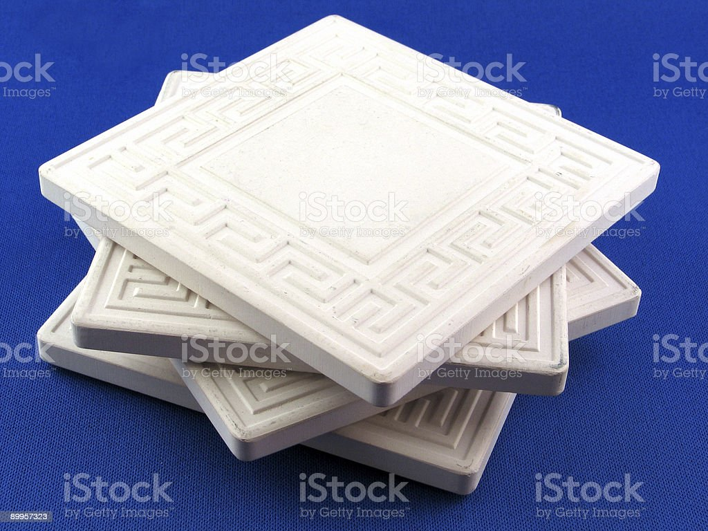 Ceramic Drink Coasters In a Stack royalty-free stock photo